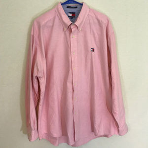 Tommy Hilger mens pink long sleeved shirt